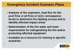 emergency incident scenario plans