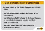main components of a safety case2