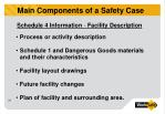 main components of a safety case3