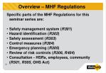 overview mhf regulations1