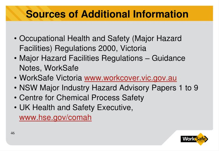 Occupational Health and Safety (Major Hazard Facilities) Regulations 2000, Victoria