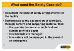 what must the safety case do