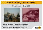 why is a safety case needed7