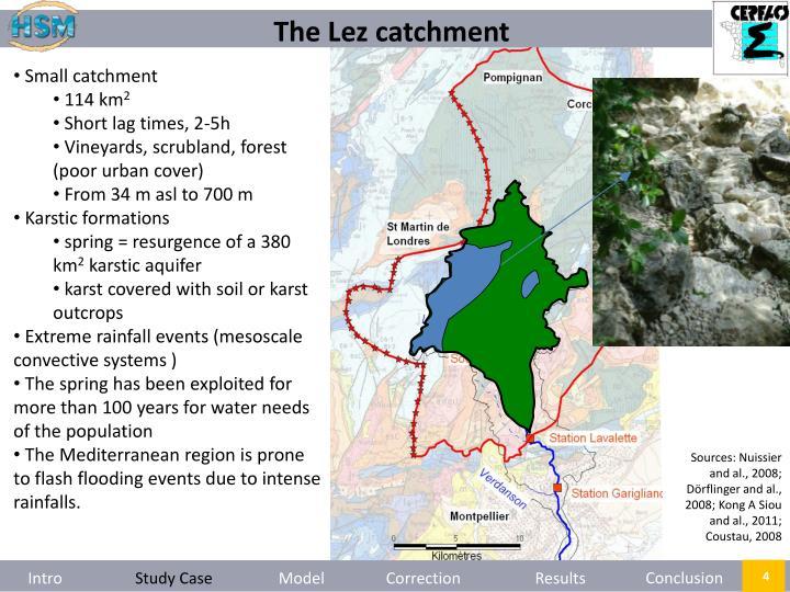 The Lez catchment