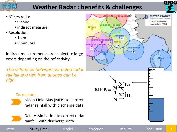 Weather Radar : benefits & challenges