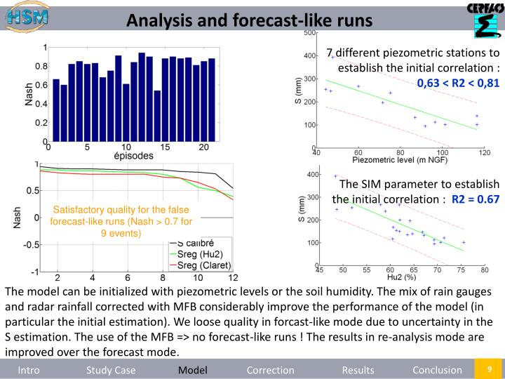 Analysis and forecast-like runs