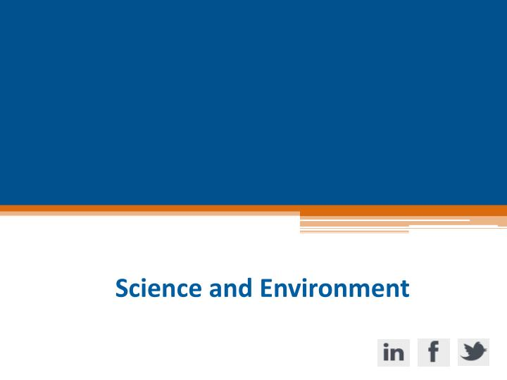 Science and Environment
