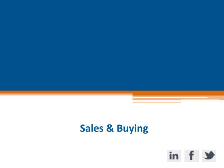 Sales & Buying