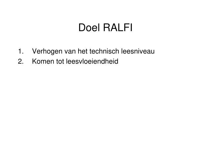 Doel RALFI