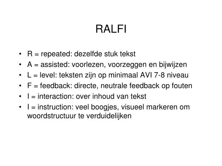 RALFI
