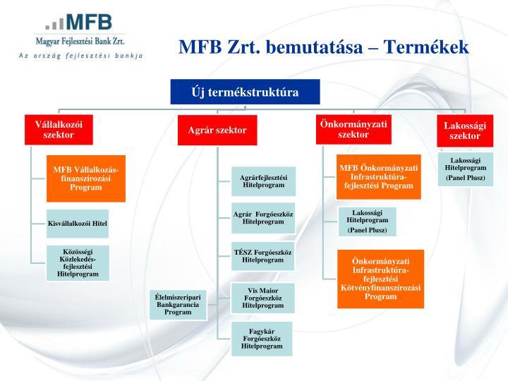 MFB Zrt. bemutatása – Termékek