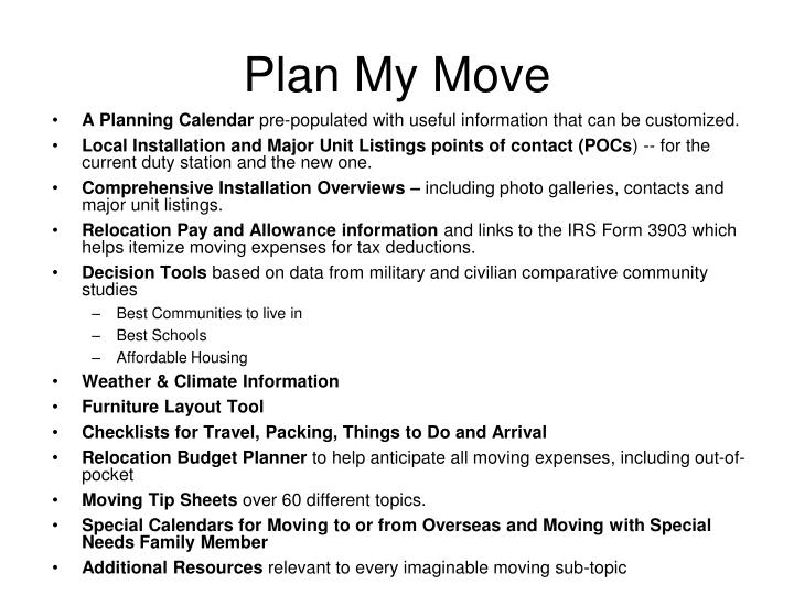Plan My Move