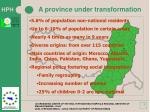 a province under transformation