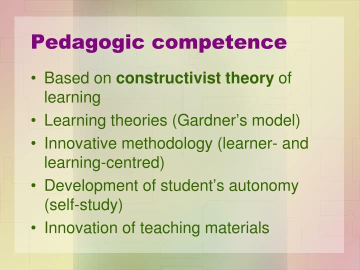 Pedagogic competence