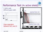 performance test 4 p active shield