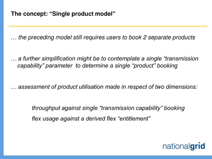 """The concept: """"Single product model"""""""