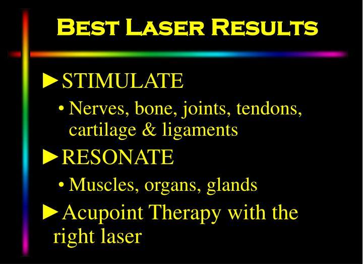Best Laser Results