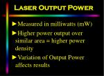 laser output power