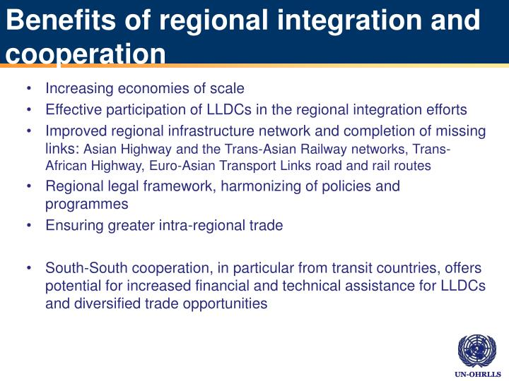 Benefits of regional integration and cooperation