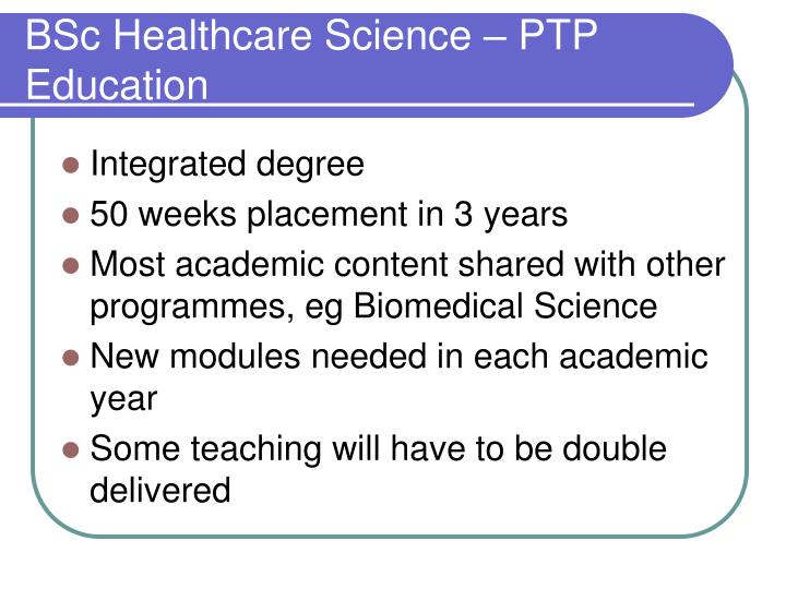 BSc Healthcare Science – PTP Education