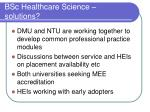 bsc healthcare science solutions
