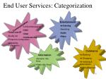 end user services categorization