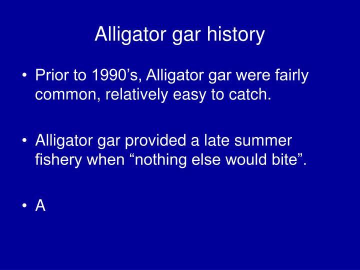 Alligator gar history