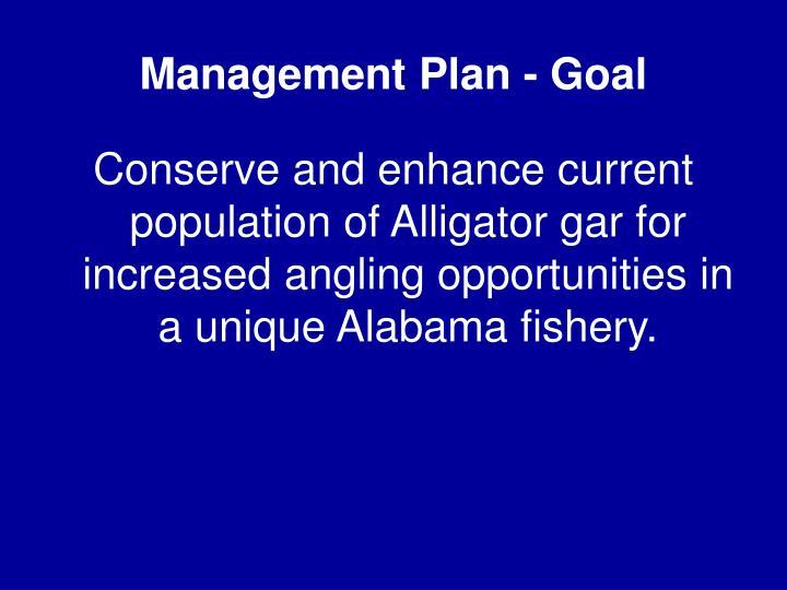Management Plan - Goal