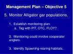 management plan objective 5