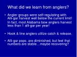 what did we learn from anglers