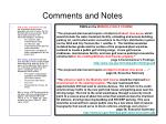 comments and notes