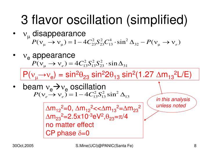 3 flavor oscillation (simplified)