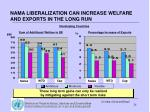 nama liberalization can increase welfare and exports in the long run