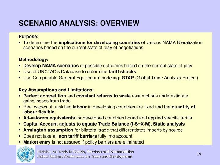SCENARIO ANALYSIS: OVERVIEW