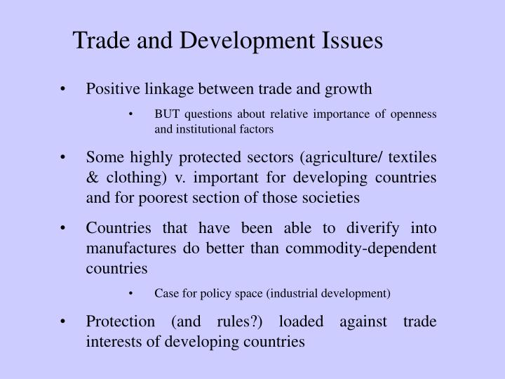 Trade and Development Issues