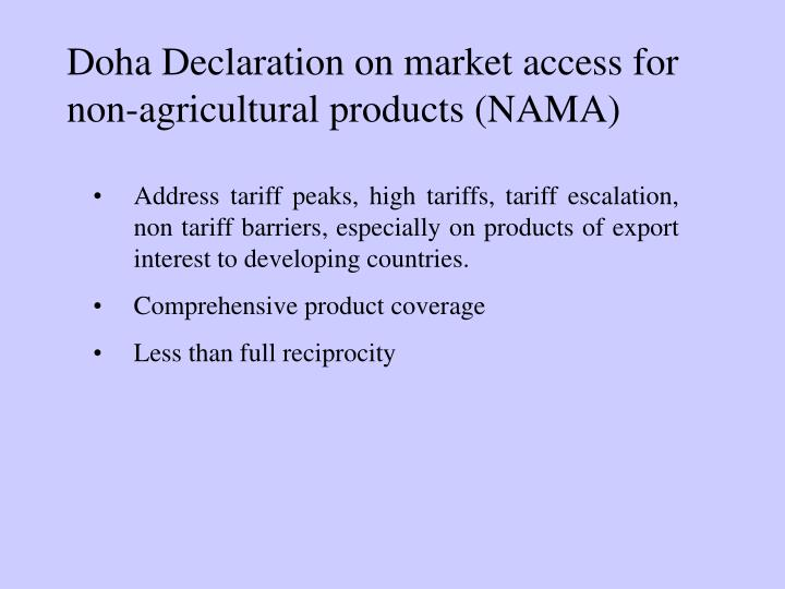 Doha Declaration on market access for