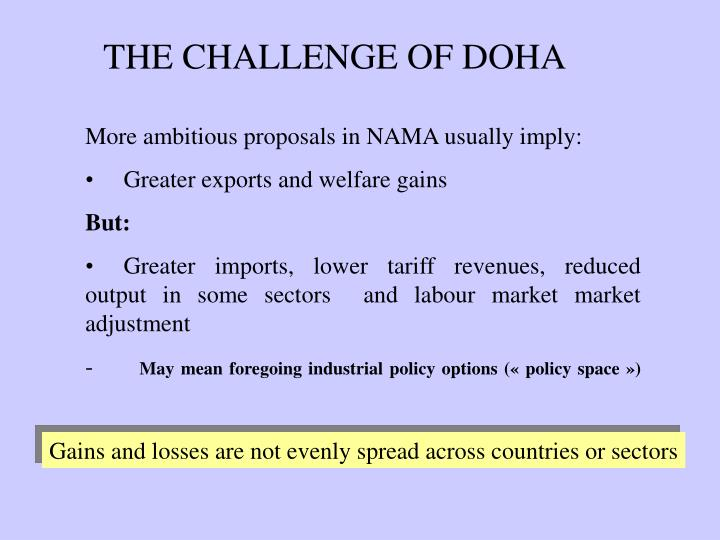 THE CHALLENGE OF DOHA