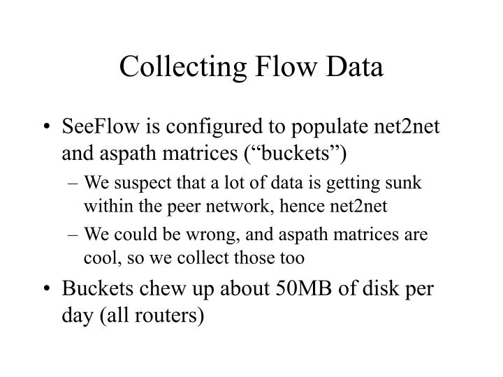 Collecting Flow Data