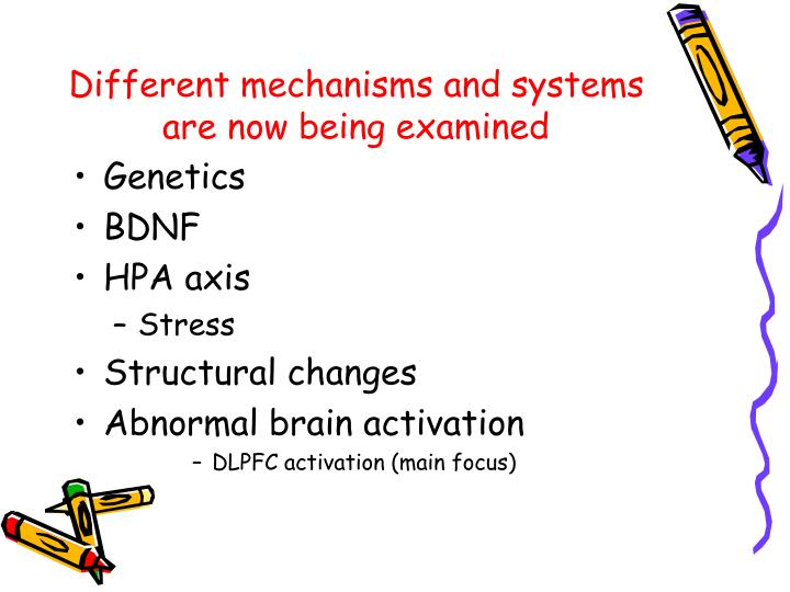 Different mechanisms and systems are now being examined