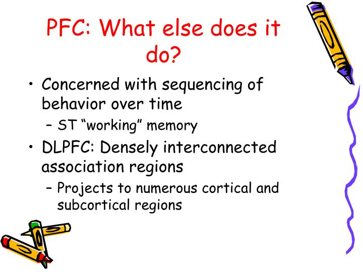 PFC: What else does it do?