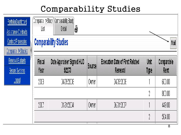 Comparability Studies