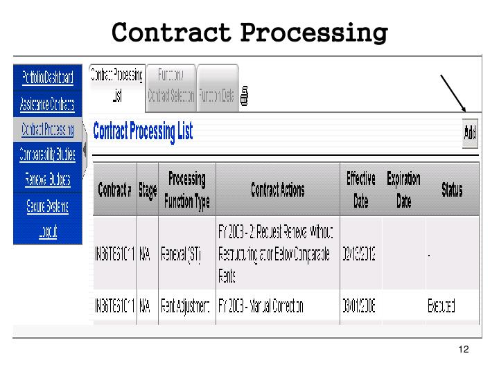 Contract Processing