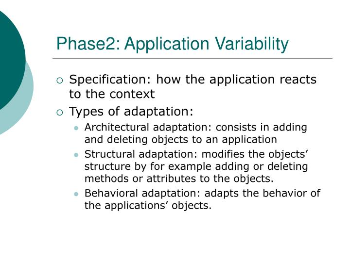Phase2: Application Variability