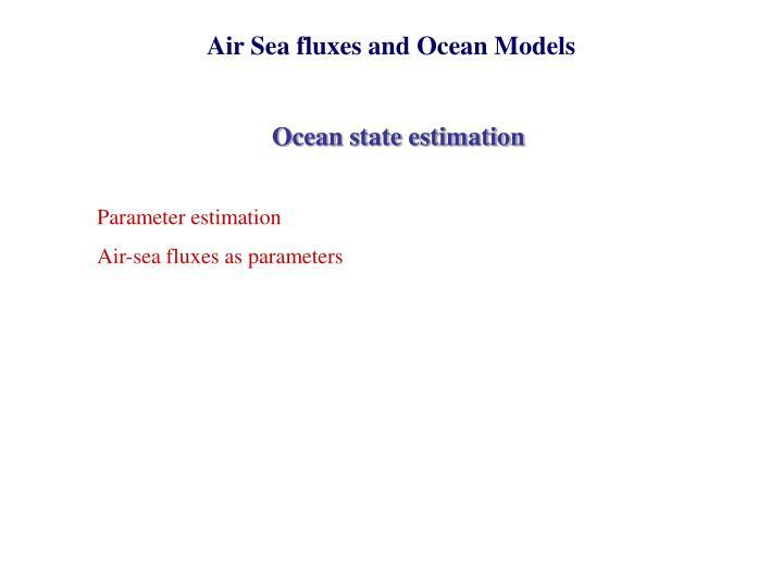 Air Sea fluxes and Ocean Models