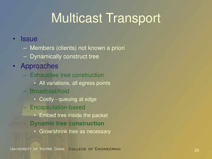 Multicast Transport