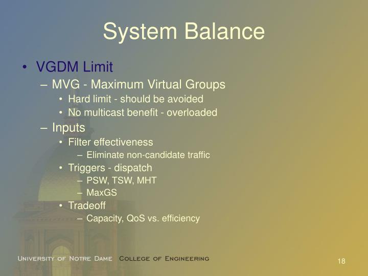System Balance