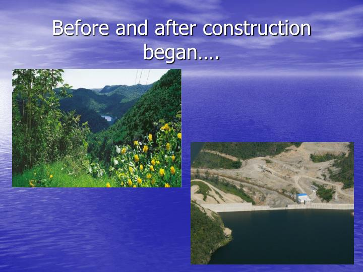 Before and after construction began….