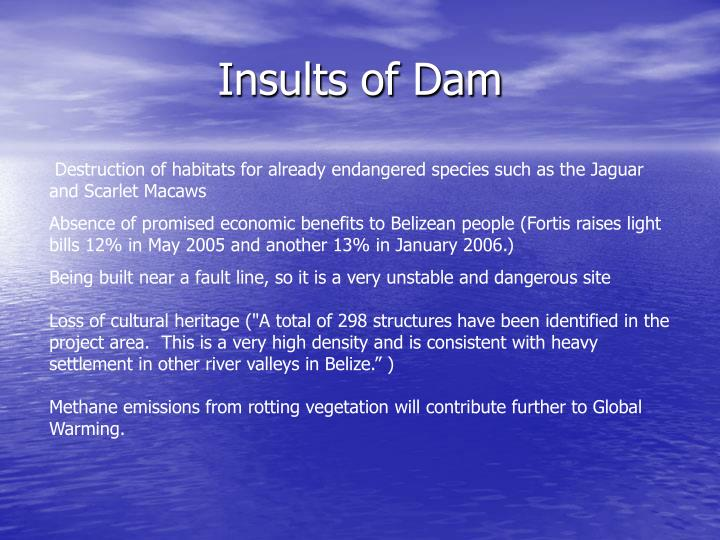 Insults of Dam