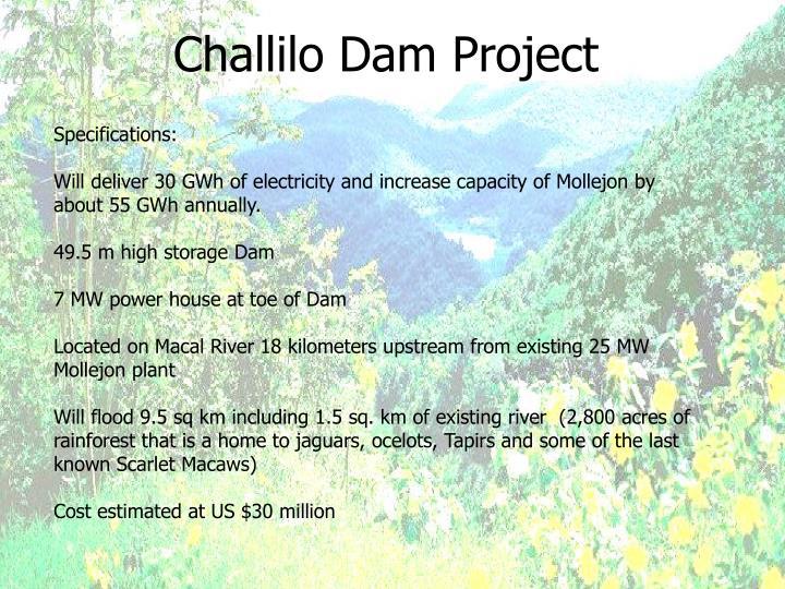Challilo Dam Project
