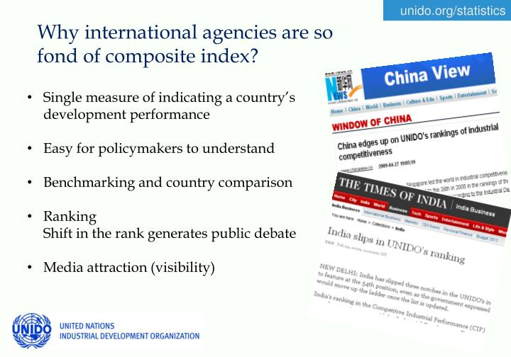 Why international agencies are so fond of composite index?